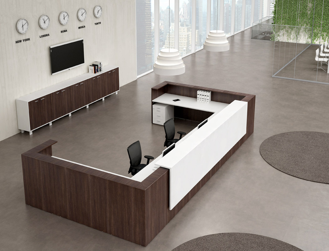 Banques d 39 accueil for Bureau reception